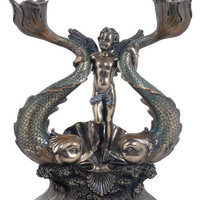 Gifts | Cherub and Fishes Candle Holder