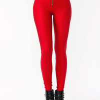 high-waisted-leggings BEIGE BLACK RED ROYAL - GoJane.com