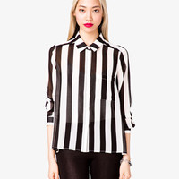 Striped Georgette Shirt