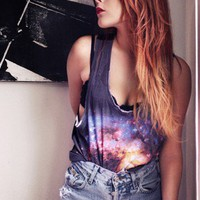 Digital Galaxy vest by your eyes lie