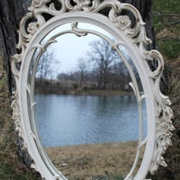 Vintage Ornate Oval Mirror
