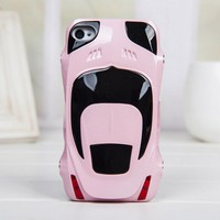 Sport Car Style Plastic Hard Case for Iphone 4/4s pink
