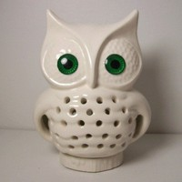 Ceramic Owl TV Lamp