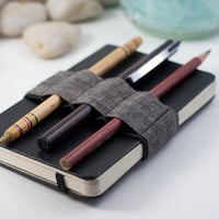 Mini Bandolier / Pencil Case Replacement / Dark by cleverhands