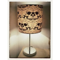 Goth Connected Skulls Lampshade 20cm Drum - Tabletop