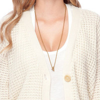 Grandma Cardigan in White :: tobi