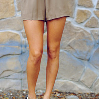 Born This Way Shorts: Taupe | Hope's