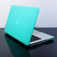Amazon.com: TopCase® Tiffany Blue Rubberized Satin Hard Case Cover for New Macbook Pro 13-inch (A1278/with or without Thunderbolt): Computers & Accessories