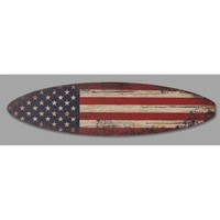 Illuminada - American Flag Surfboard Sign (8547) - Surfboard Signs