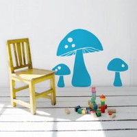 Mushroom Wall Sticker for Kids, Ferm Living Wall Decor