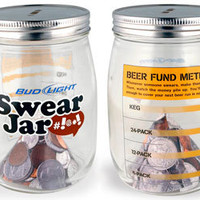 Bud Light Glass Swear Jar | Unique Gifts | RetroPlanet.com