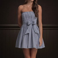NWT Hollister by Abercrombie & Fitch Moor Park Navy Strapless Summer Dress L