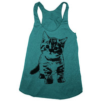 Womens KITTEN american apparel TriBlend Racerback by happyfamily