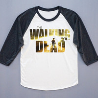 The Walking Dead T-Shirt Zombie T-Shirt Skull T-Shirt Baseball Shirt Long Sleeve Shirt Women T-Shirt Unisex T-Shirt Size S