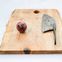 Chef's Cutting Board, Natural Edge Salvaged Maple 815, Ready to Ship