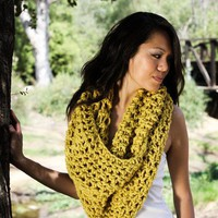 the OVERSIZED EGO scarf / color SUNFLOWER by topherco on Etsy