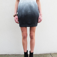 Fade to White Ombr Skirt