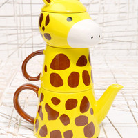 Giraffe Print Tea For One Set