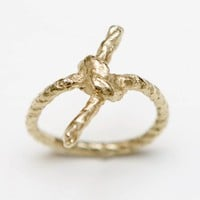 Forget Me Knot Gold Ring