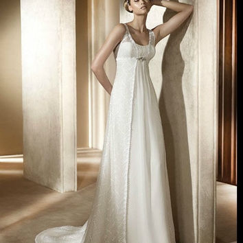 Discount China  2012 A-line sweetheart train beaded lace chiffon ivory white wedding dresses BDWB898304 [BDWB898304]- US$392.00 - JCFbridal.com