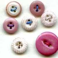 Pink colored china buttons china calicos plus vintage