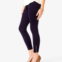 Essential Zippered Ankle Pants | FOREVER 21 - 2000048625