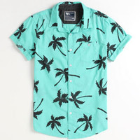 Modern Amusement Al Palm Print Short Sleeve Woven Shirt at PacSun.com