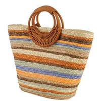 Striped Straw Tote | FOREVER21 - 1000034882