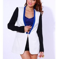 Color Block Retro Boyfriend Blazer  Tanny&#x27;s Couture LLC