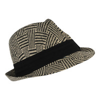 Patterned Straw Fedora | FOREVER21 - 2000038478