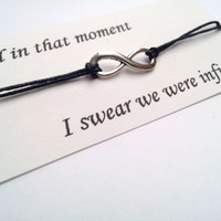 And in that moment I swear we were infinite Perks of being a Wallflower friendship bracelet on waxed cotton cord