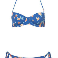 Blue Rose Underwired Bikini - Bikini Sets - Swimwear  - Apparel - Topshop USA
