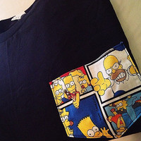 The Simpsons Pocket Tee by HouseOfBalloonss on Etsy