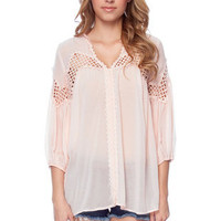 Full Circles Blouse in Light Peach :: tobi