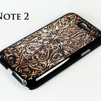 Retro Carving Wood Pattern Samsung Galaxy Note 2 Hard Case