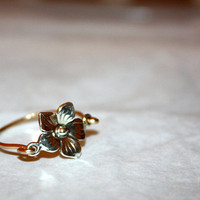 caelum - silver flower ring by lilla stjarna - gold flower ring - 14k gold ring - sterling silver flower ring - everyday jewelry