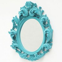 flocked versailles mirror by thomas &amp; vines | notonthehighstreet.com