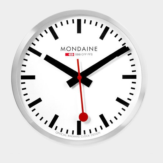 Large Swiss Railway Clock From Moma Design Store Live
