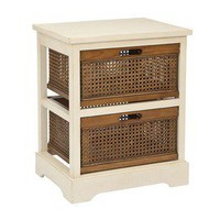 Safavieh Willow Storage Cabinet - Mud Room - distressed white