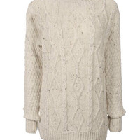 sirenlondon — Nap yarn Cable Knit Jumper