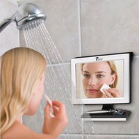 Fogless Shower Mirror with Squeegee by ToiletTree Products. Guaranteed Not to Fog, Designed Not to Fall. #1 Selling and Ranked by Amazon Customers.