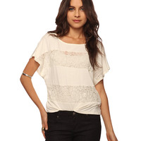 Lace Stripes Top | FOREVER21 - 2008584599