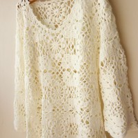 High Quality Lace Crochet Blouse 113