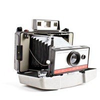 Vintage Polaroid Automatic 220 Land Camera With Hard Case - 1960s Instant Fold Up Accordion Photography / Retro Home Decor