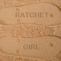 Ratchet Girl Custom Sand Imprint Flip Flops