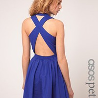 ASOS Petite | ASOS PETITE Exclusive Cross Back Full Skirted Sun Dress at ASOS