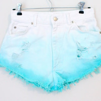 Custom dyed high waisted shorts  by BohoChildGarments on Etsy