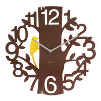 ideeli | PRESENT TIME Woodpecker Wall Clock