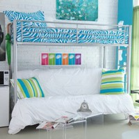 Duro Wesley Twin over Futon Bunk Bed - Silver: Home & Kitchen