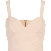 Pink bandage bralet